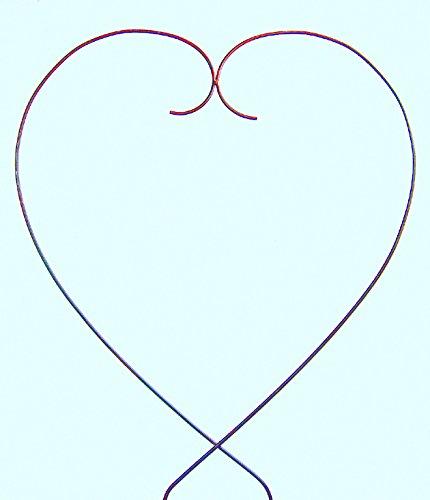 Gartenzaubereien Rankhilfe Herz 38cm