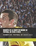 DONNÉES DE LA COUPE DU MONDE DE FOOTBALL DE 1930 À 2022: Données des matchs de la Coupe du monde