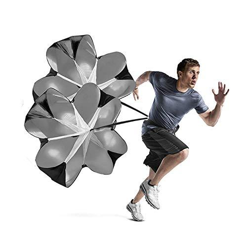 EastyGold Running Speed Chute Resistance Parachute 56 inch Powerchute 2 Pack Umbrella Training Sprint Power Soccer Trainer for Runner, Football, Soccer Drilling