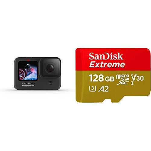 GoPro HERO9Black - Fotocamera sportiva impermeabile con schermo LCD + SanDisk Extreme Scheda di...
