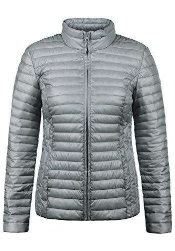 JACQUELINE de YONG Britta Damen Übergangsjacke Steppjacke leichte Jacke gefüttert mit Stehkragen, Größe:M, Farbe:Sharkskin