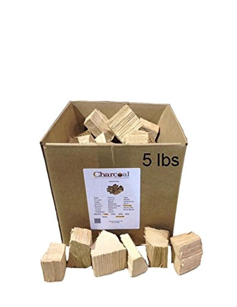 CharcoalStore Red Oak Wood Smoking Chunks - No Bark (5 Pounds)
