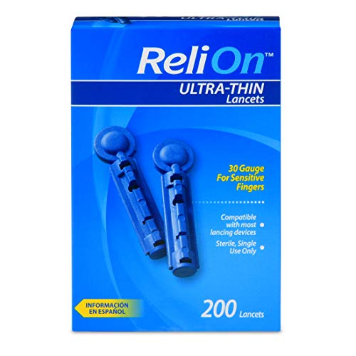 ReliOn 30G Ultra Thin Lancets 200-ct (Pack of 2)