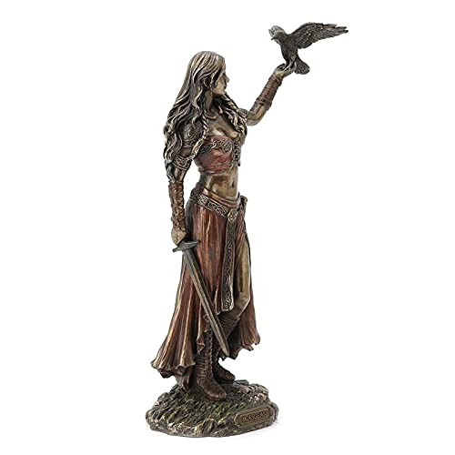 RFYUJH Resin Statue Celtic God of War Crow and Bronze Sword Complete Statue 15 cm/5.9inch Home Decoration