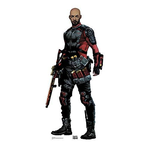 Star Aussparungen Deadshot Suicide Squad [Keine Maske] Life Größe Pappe, Mehrfarbig