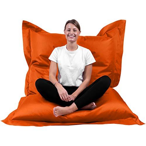 XL-XXXXL Coussin de sol pour chaise d'extérieur, Orange, XXL= 160 x 120