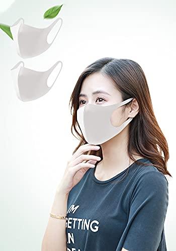 マスク【洗えるマスク 夏用マスク】冷感 布 スポーツマスク 3D立体マスク UVカット ひんやり 暑い季節を快適 通気性 伸縮性 フィット感 繰り返し使える 呼吸しやすい 風邪予防 飛沫 抗菌防臭 ホコ防止 花粉対策 レギュラー 男女兼用 3枚入 (3, グレー)