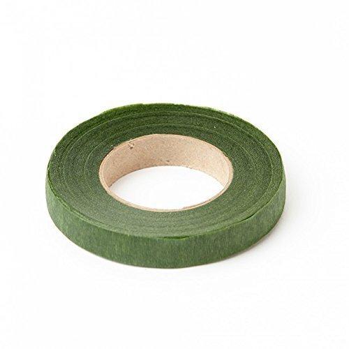 Pack de 2 cintas de tallo de musgo verde, de 27 m x 13 mm. Para tallo. Para ramilletes, ramos, flores, arreglos y manualidades.