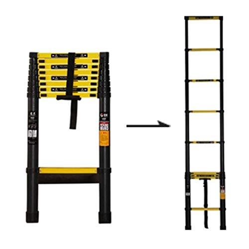 LIUCHUNYANSH con Escalera de extensión Extra Ancho de escalón, de Aluminio Tall Profesionales compactas telescópicas Escaleras Oficina Tejados de Inicio, Carga 200kg (Size : 2.6m)
