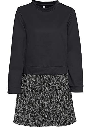 bonprix Sweatshirt mit Rockteil schwarz/weiß 40/42 für Damen