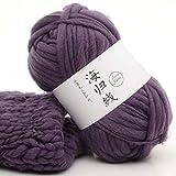 Hilo de lana gruesa, 22 colores, para tejer con brazo de lana de Islandia, extra gruesa, hilo de coser (50 g/250 g), lana, 8, As Picture Show