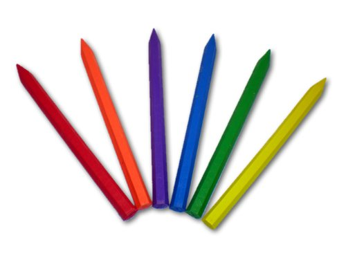 LDS 6 Pack Erasable Scripture Marking Crayons for All Ages - Red, Orange, Purple, Blue, Green & Yellow