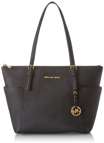 Michael Kors Jet Set Item East West Top Zip, Borsa Tote Donna, Nero (Black), 11.4x25.4x38.1 centimeters (W x H x L)