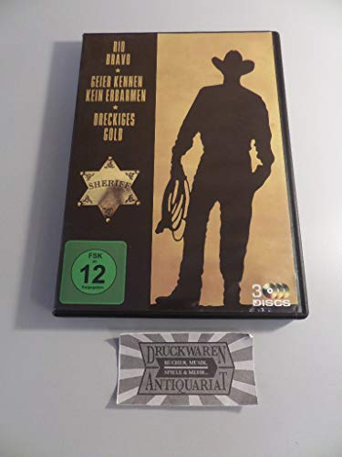 John Wayne Collection : Rio Bravo - Geier kennen kein Erbarmen - Dreckiges Gold - 3DVD Box