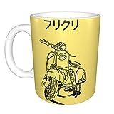 yushan FLCL Vespa 1 Tazza da caffè in Ceramica Divertente Unica per L'Ufficio Domestico Tazza da tè per Il Regalo del Festival della novità