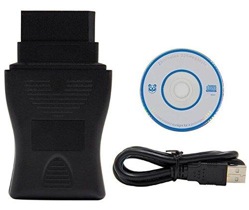 HaoYiShang Câble d'outil de Diagnostic de Voiture de 14Pin OBD2 DDL USB pour l'année de Nissan 1989 à 2000