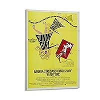 おかしい女の子( 1968 ) -ビンテージ映画ポスター ウォールアート 部屋飾り キャンバス 絵画 ベッドルーム ポスター リビング 壁の絵24×36inch(60×90cm)