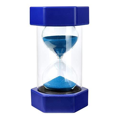 Schramm® XXL Sanduhr 15 Minuten blaue Sanduhr ca. 15,5 x 7,8 cm Sanduhr Eieruhr Sanduhr Zeituhr Kurzzeituhr Sanduhr, Zufällige Farben