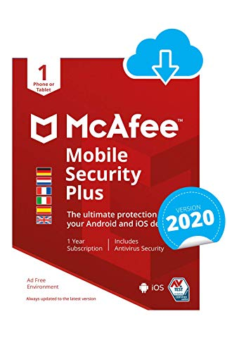 McAfee Mobile Security with VPN | 1 appareil | 1 Usager | 12 Mois | PC/Mac | Code d'activation - envoi par email