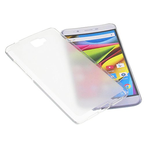 foto-kontor Tasche für Archos 55 Cobalt Plus Gummi TPU Schutz Handytasche milchig transparent