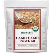 Healthworks Camu Camu Powder Organic (8 Ounces) | All-Natural & Certified Organic | Antioxidants, Vitamin C & Potassium | Peruvian Origin | Juices, Teas & Smoothies