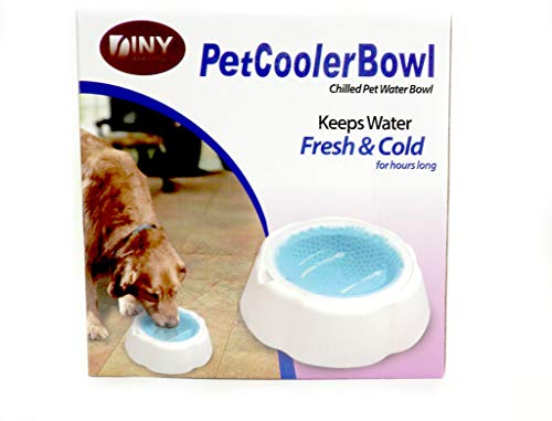 Chilled Pet Cooler Bowl Keeps Water Cool and Fresh for Hours Dogs & Cats