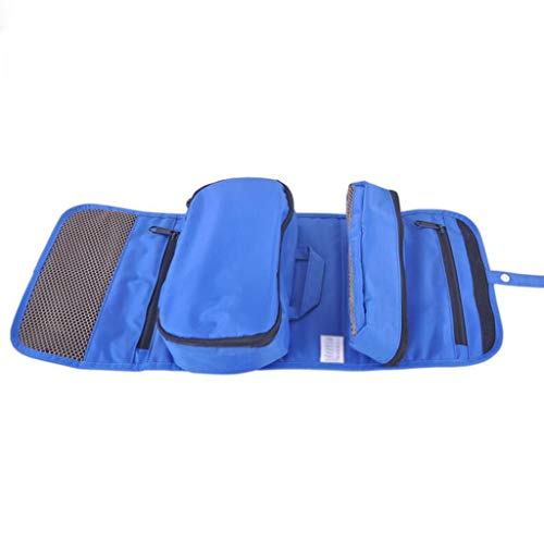 Sac cosmétique détachable Se Pliant Stockage étanche Grande capacité Multifonctionnel portatif de Lavage Simple de Voyage Universel 5 Couleurs 24 * 3 * 20 cm MUMUJIN (Color : Blue)