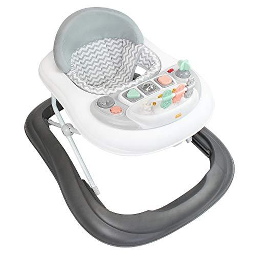 Todeco - Trotteur pour Bébés, Centre d'Activités pour bébés - Tranche d'âge: 6 à 18 mois - Matériau: PP - Motif gris avec...