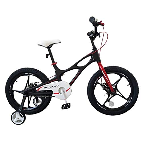 YELLAYBY Mountaineering Children's Bicycle 14-inch Boy And Girl Stroller 4-12 Year Old Student Bicycle Outdoor Mountain Bike Multi-functional Portable Bicycle Best Gift For Children (Color : BLACK, Si