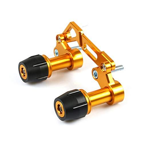 Deslizadores de Marco Accesorios para Motocicletas Anti-Collision Slider Guard Muffler Tube Frame Sliders Protección contra caídas (Color : Gold)