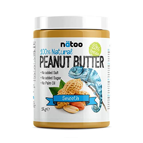 NATOO 100% Burro d'arachidi Peanut Butter 30% Protein Smooth - 1Kg