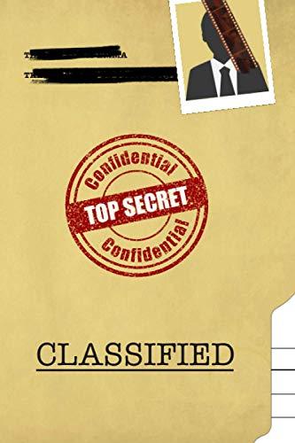 Top Secret Classified: Gear vintage Detective Journal For Kids, Fun & Unique Spy Games Notebook Journal Gift For Boys Or Girls, Detective kids Notebook, Secret Agent Journal 6' x 9' 120 pages