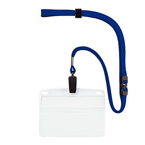 オープン工業 吊り下げ名札 ソフトケース 名刺サイズ 10枚 青 NL-8-BU