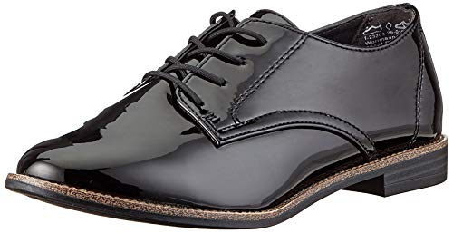 Tamaris Damen 1-1-23203-25 Oxford-Schuh, schwarz, 40 EU