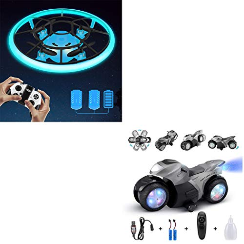 Combination Package,Mini Drone for Kids(Blue),RC Motorcyle for Kids(Grey)