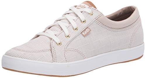 Keds Women's Center Ticking Stripe Sneaker, Tan, 9