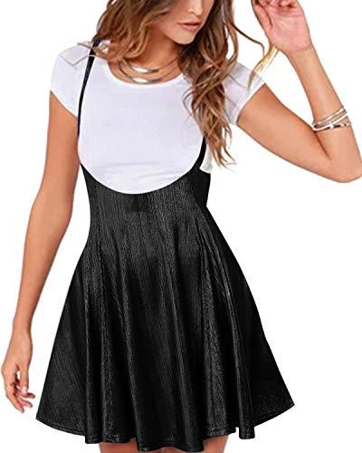 YOINS Rock Damen Mädchen Minirock Kawaii A Linie Mini Skater Rock Kleider für Damen Minikleid Skaterkleid,Glitzer-schwarz,S
