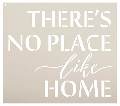 There's No Place Like Home - Word Stencil - 11' x 9' - STCL1884_2 - by StudioR12