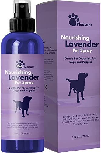 Pet Odor Eliminator Spray for Dogs – Dog Spray For Smelly Dogs and Dog Calming Spray with Lavender Essential Oil – Pet Deodorizer Spray plus Dog Freshener Body Spray and Top Pet Supplies for Dogs