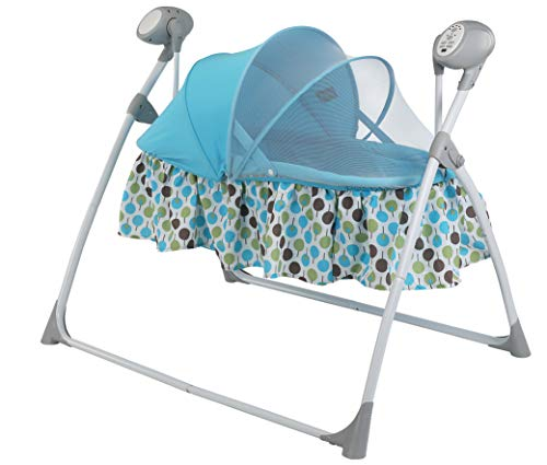 LuvLap Royal Cradle for Babies - New Born Baby Swing Cradle with Auto Swing and Mosquito Net – Blue