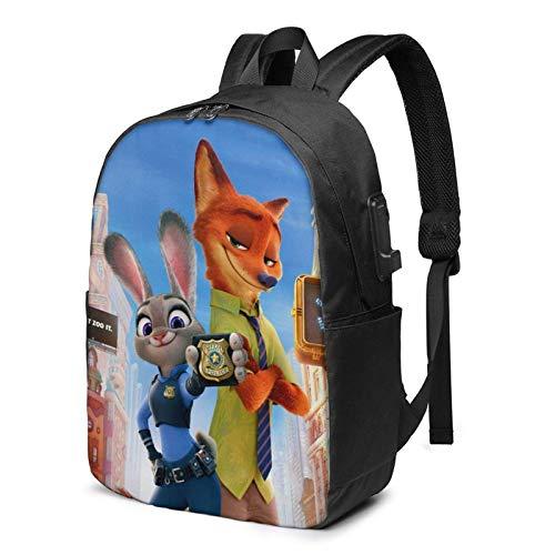 Zoot-Opia Laptop Rucksack Busin Reiserucksäcke für Männer Frauen Schulrucksack Cool Lightweight Bookbags 17in