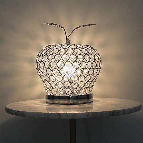 Moderne creatieve kristallen lamp led goud/rood/zilver metaal mini tafellamp decoratie nachtlicht studie slaapkamer nachttafellamp verlichting verlichting