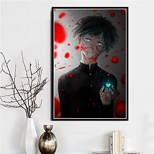 Zhufu Mob Psycho 100 Anime Canvas Painting Posters E Impresiones En La Pared Película Retro Art Deco Decoración del Hogar Affiche 40X50Cm (Ob-2747)
