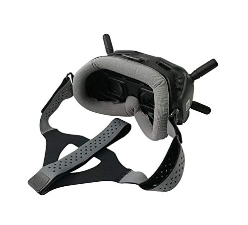 MINGCHUAN Faceplate Eye Pad/Head Strap Head Band for DJI Digital FPV Goggles Face Plate Replacement Set for Lycra Skin-Friendly Fabric (Grey Replacement Set)