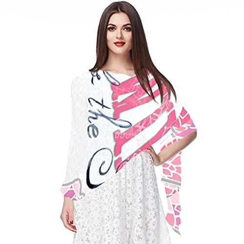 wuqiandian Bufanda para mujer chal envuelve,máquina de coser,Imprimir Bufandas suaves Bufandas grandes y ligeras