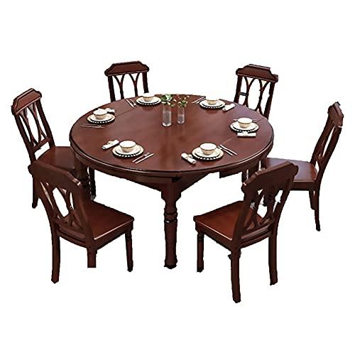 HMBB Conjunto de mesa de comedor de 7 piezas - mesa de comedor for 6, conjunto de mesa de cocina pequeña, diseño de espacio for el hogar for cocina, espacio pequeño, apartamento, tablero impermeable