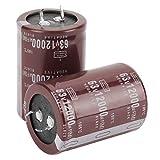 2 uds Audio 63V 12000uf filtro HIFI condensador electrolítico Chip de cerámica 35 * 50mm para herramienta de reparación de Control de circuito cables radiales
