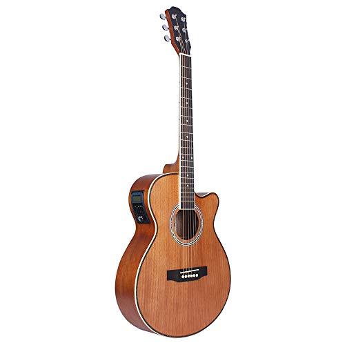 T-XYD Guitarras eléctricas acústicas Guitarra eléctrica de 40 Pulgadas All Sapele Guitarras...