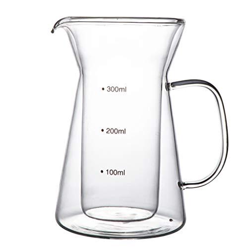 YQQ-Cafetière Carafe à Double paroi avec poignée Facile à Verser, pouvant contenir et distribuer jusqu'à 4 Tasses de café Chaud.
