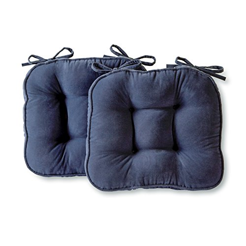 Greendale Home Fashions Chair Pad, One Size, Denim